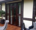 house extension - wooden backdoor