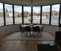 dining room with a view on the river