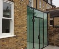 glass greenhouse extension works